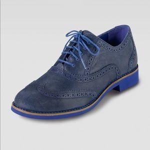Cole Haan Alisa Cobalt Blue Lace Up Oxfords